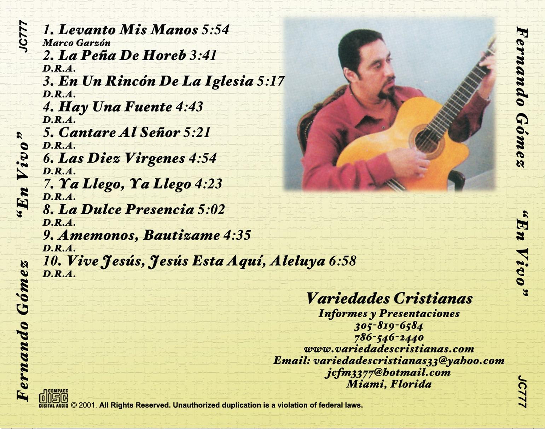 Arwork TRAY CARD Fernando En Vivo